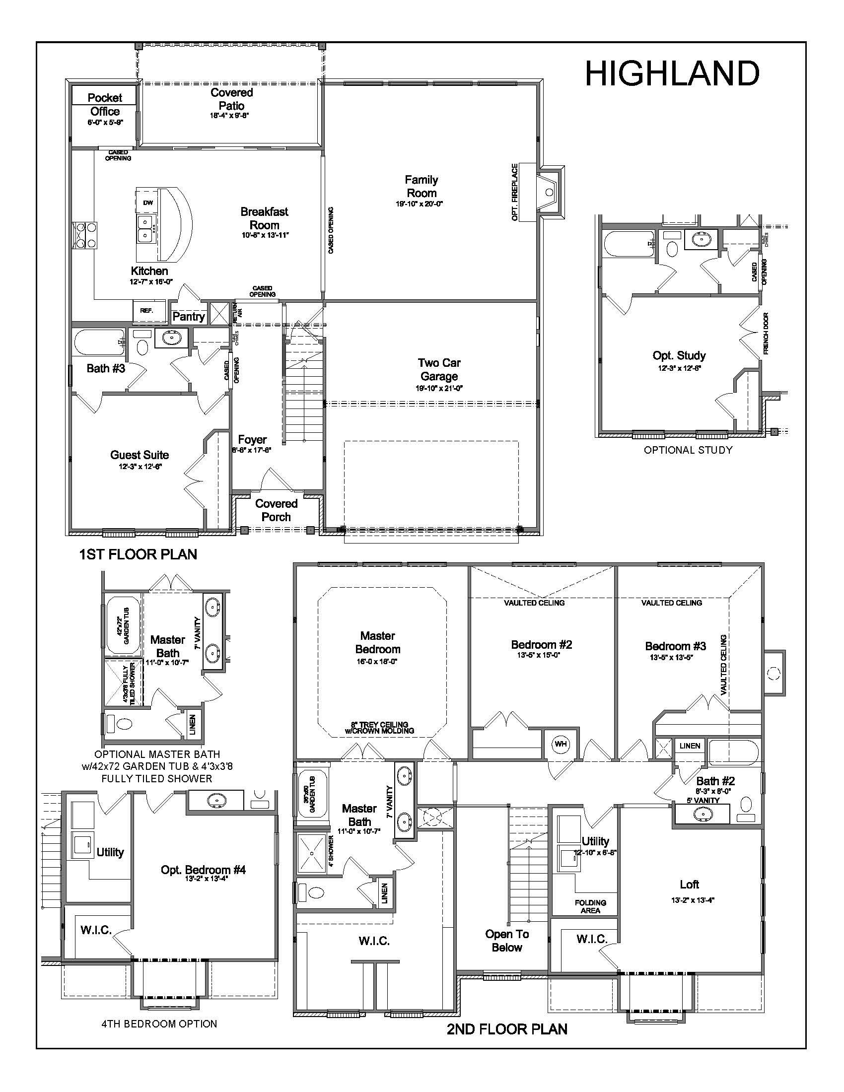 Highland Homes Floor Plan 926
