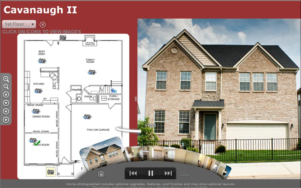 Home floor plan virtual tour for Interactive house plans