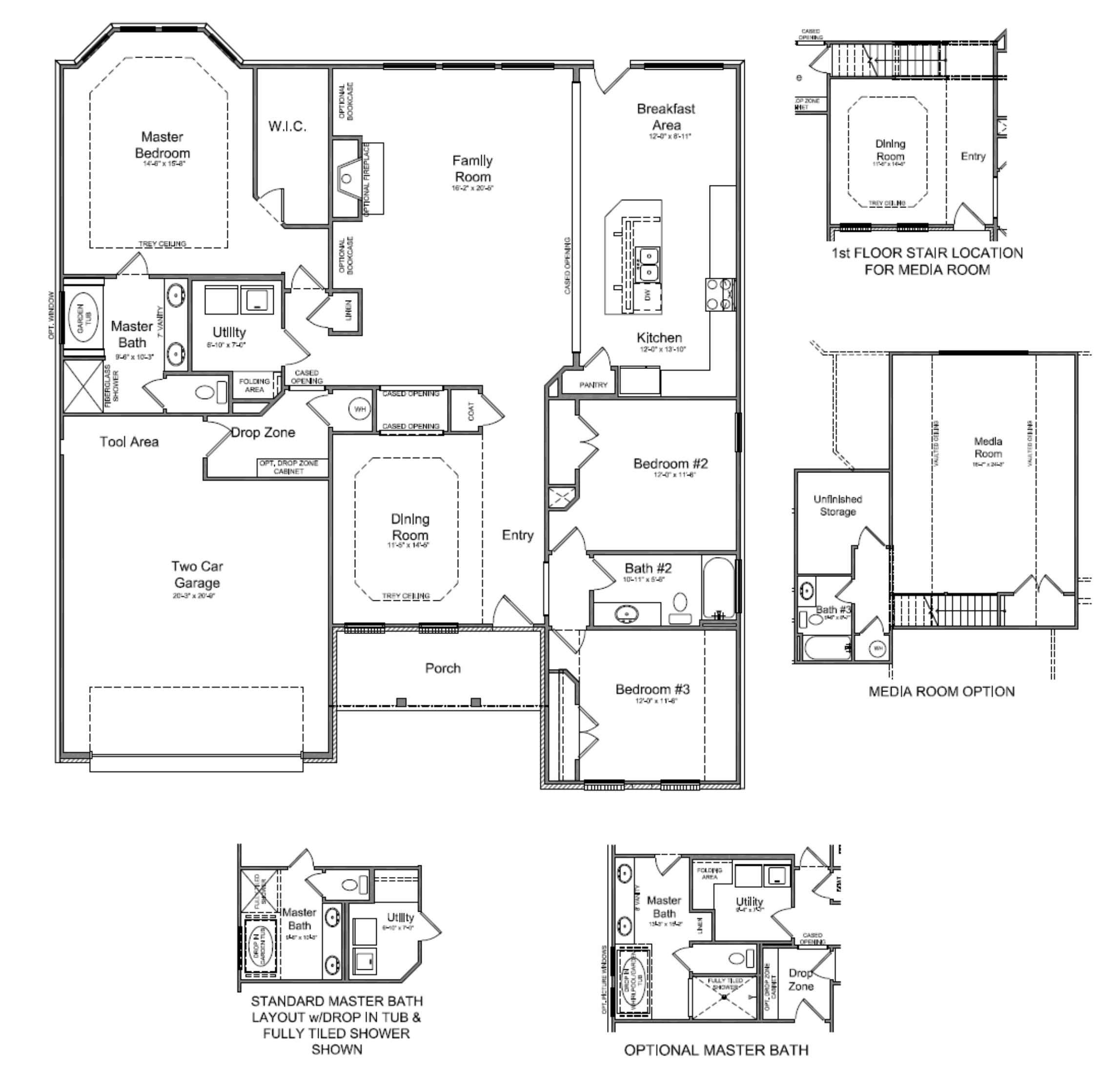 Kitchen Cabinet Blueprints Floor Plans