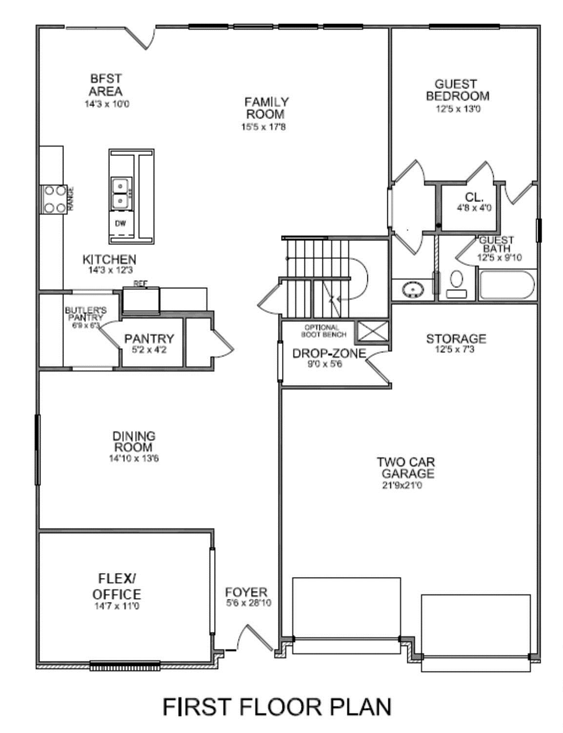 Floor plans - Houses bedroom first floor fit needs ...