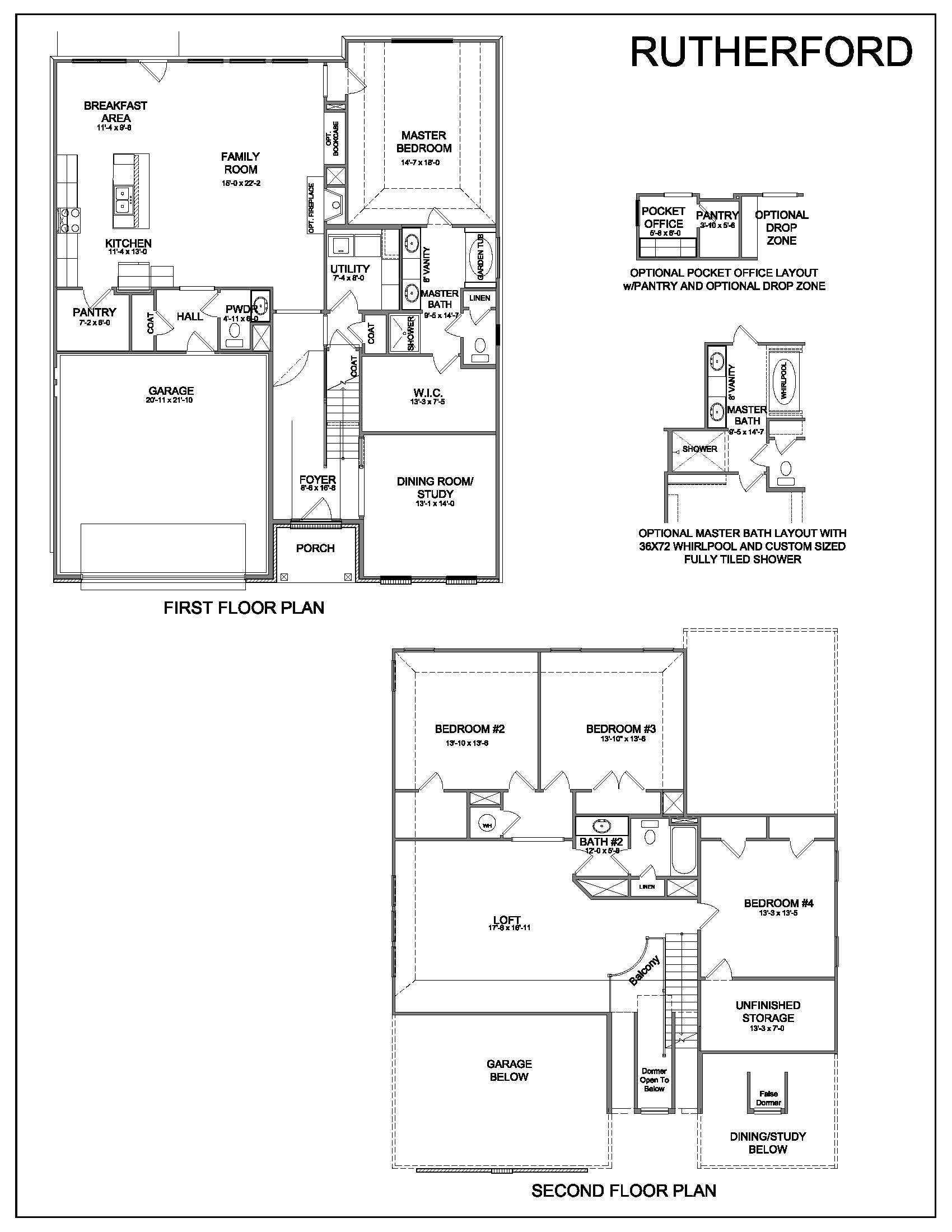 Floor plans rutherford for Rutherford house plan
