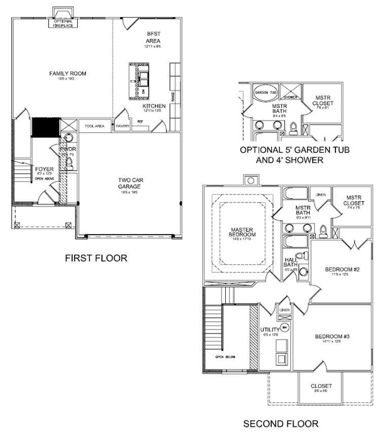 The brooklyn floor plan for Fireplace floor plan