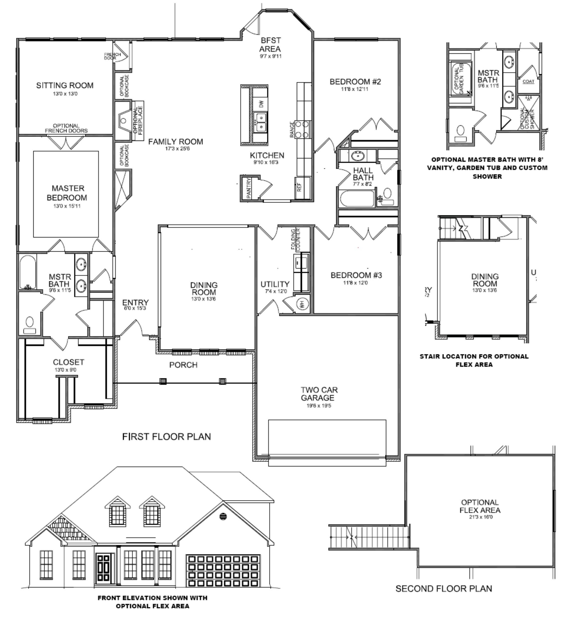 Master Bedroom Upstairs Floor Plans master bedroom with sitting area house plans waterford hall house