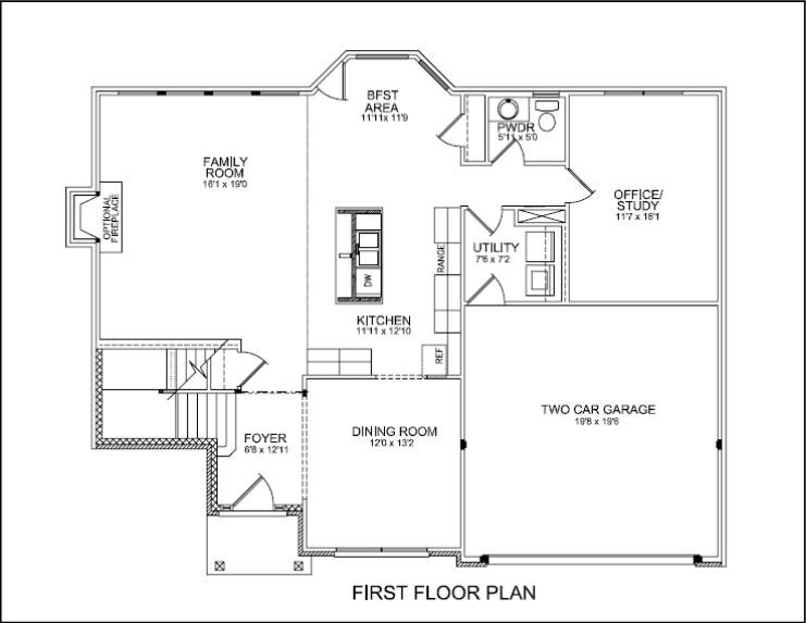 Floor plans for House plans with master bedroom on first floor