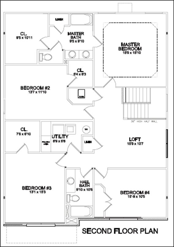 Master Bedroom Upstairs Floor Plans villas