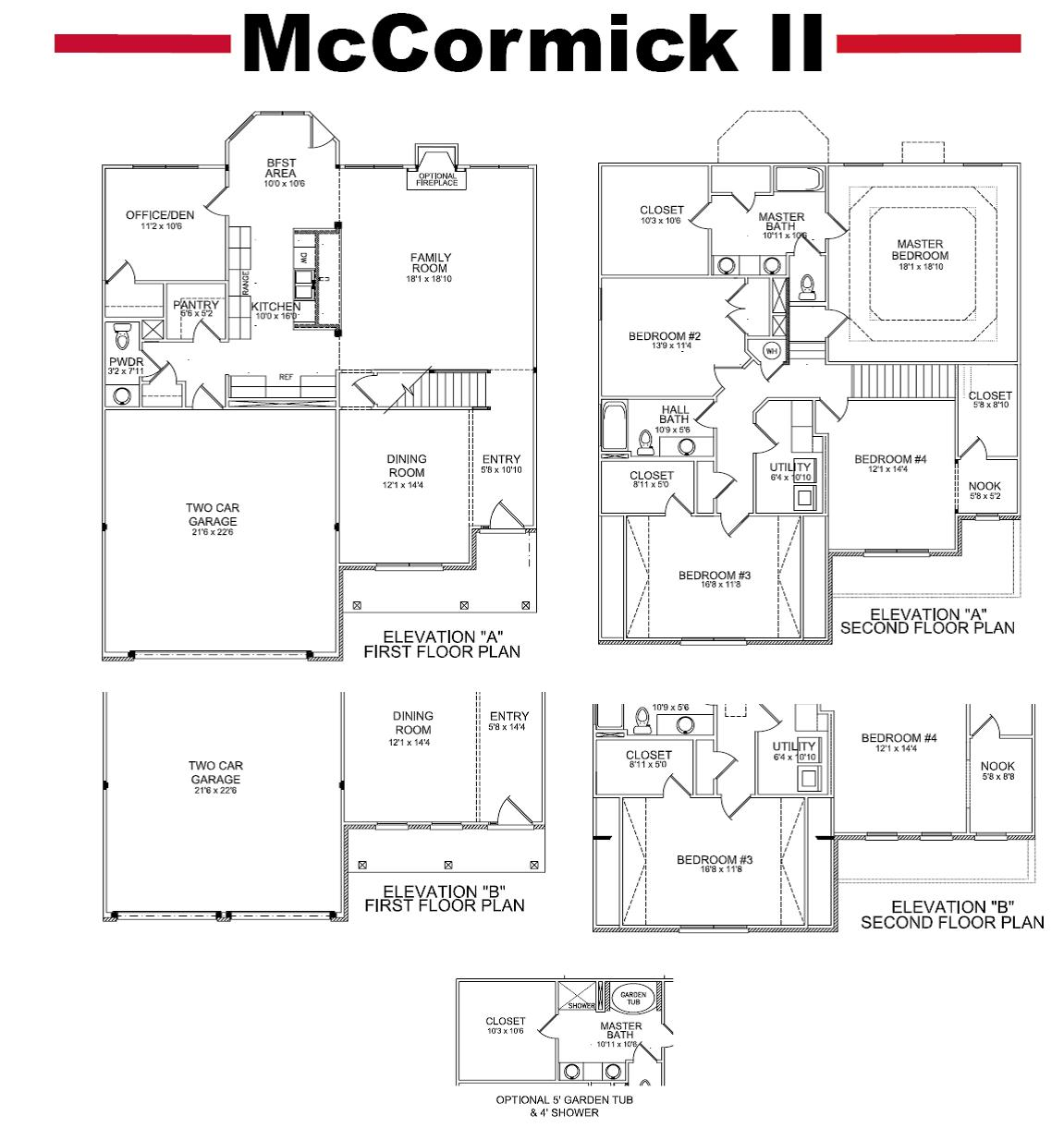 Master bathroom floor plans - Updates To Our Mccormick Floor Plan